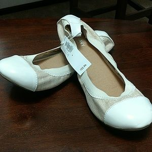 Cream flats from Old Navy.